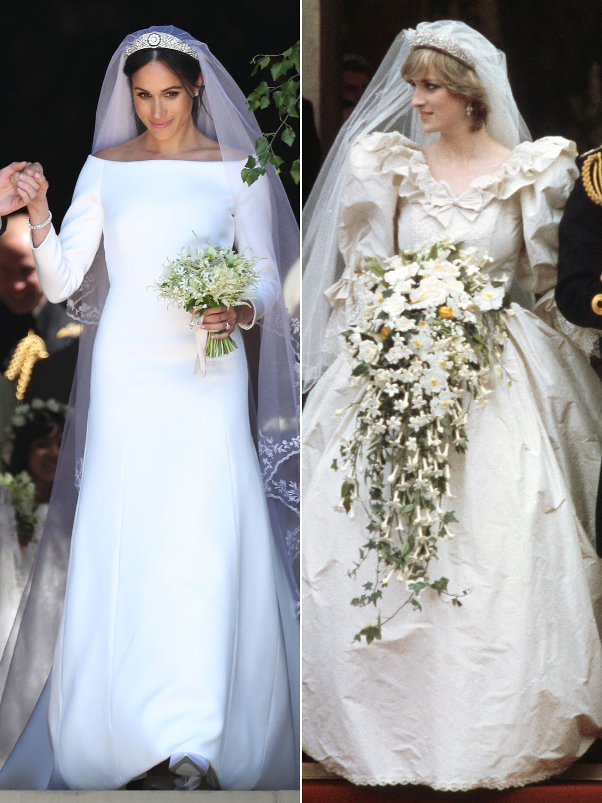 Princess Diana's Wedding Dress Designer Praises Meghan