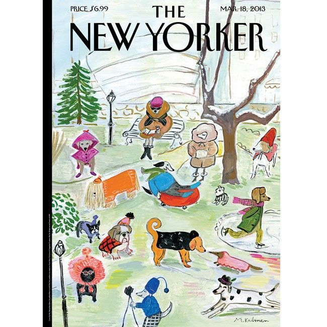 Image result for new yorker cover with umbrella and dogs by david pace