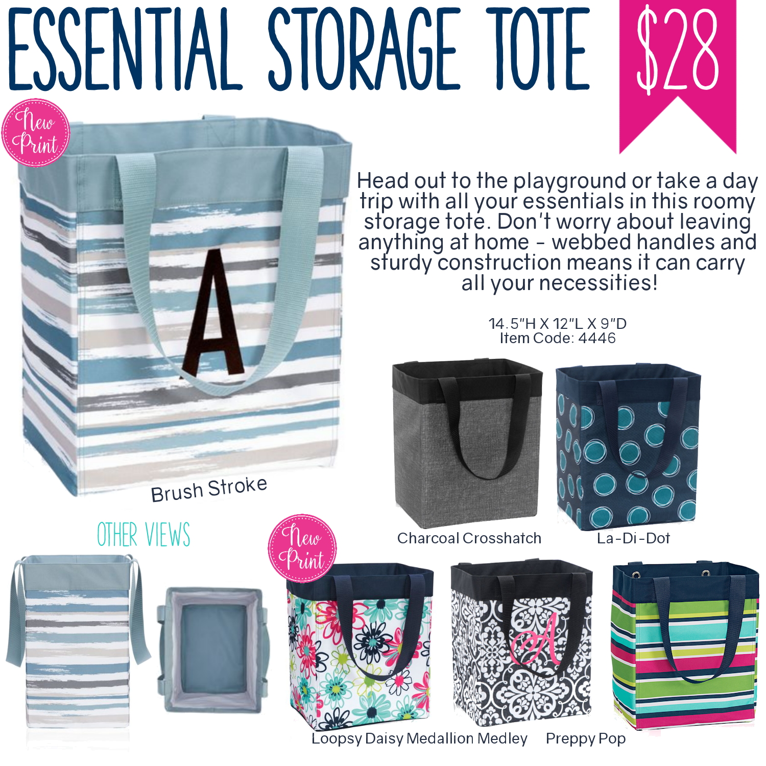 Thirty One Essential Storage Tote Spring Summer 2017