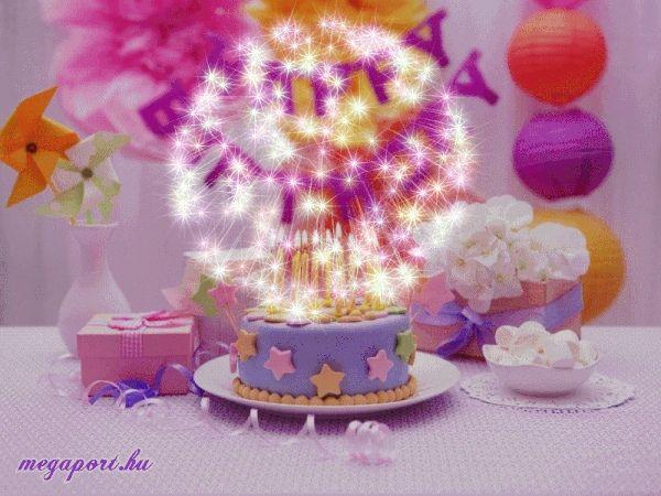 Happy Birthday Cake Gif Animation ECard