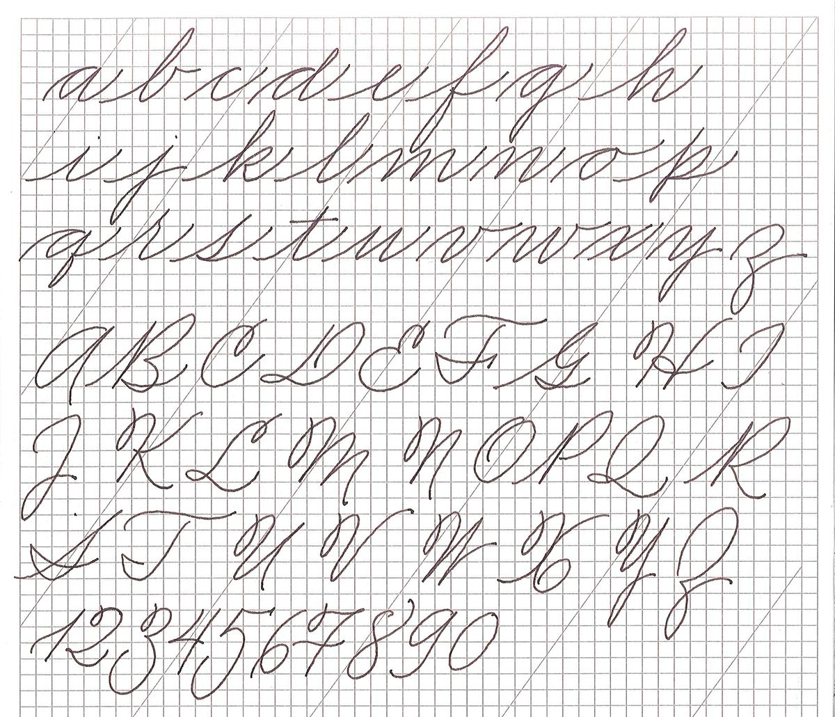 American Cursive Handwriting On Behance