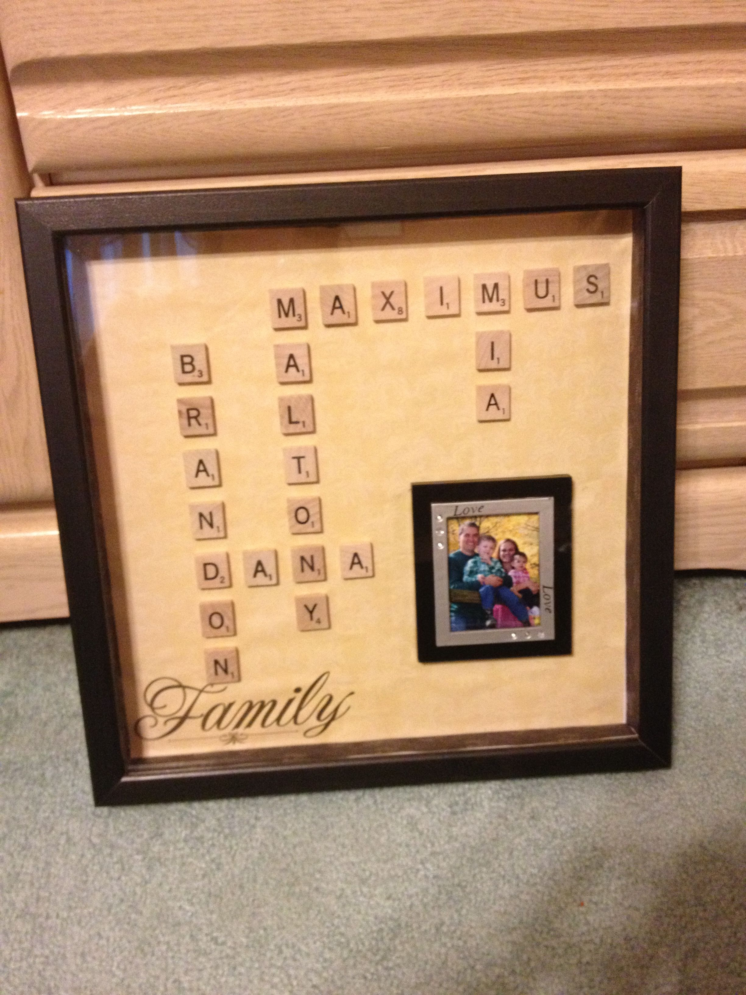 Scrabble family frame   For the Home   Pinterest   Scrabble ...
