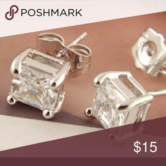 925 Silver Cz Stud Earrings Diamond Supply Co Jewelry