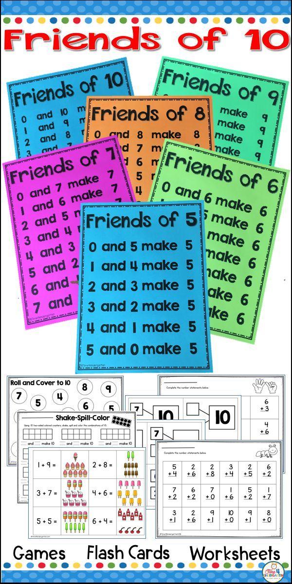 Friends of Ten Math Fact Fluency | Math poster, Math facts and Math ...