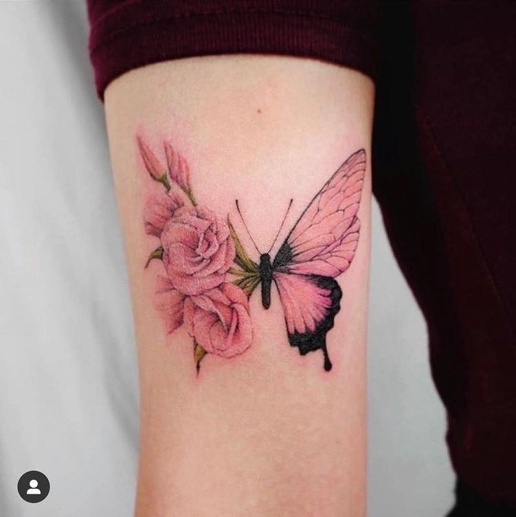 Tattoo Butterflies Fly Beautiful Amazing Awsome Grlpwr Roses Half Memories For In 2020 Tattoos For Daughters Butterfly Tattoos For Women Rose Tattoos For Women