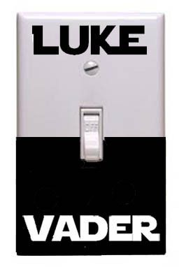 Star Wars Luke Darth Vader On Off Light Switch Plate Cover Vinyl Decal Sticker on eBay!