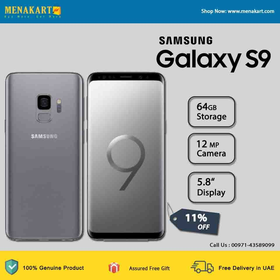 Samsung Galaxy S9 Plus Smartphone , Grey, 64GB, 6 2 Inches, 4G