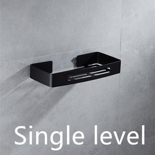 Stainless Steel 304 Black Bathroom Corner Shelf Shower Room Rack For Body Wash Bottle Toilet Corner Table S Black