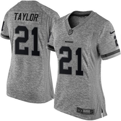 new concept 61ebe 1a1e7 Nike Redskins #21 Sean Taylor Gray Women's Stitched NFL ...