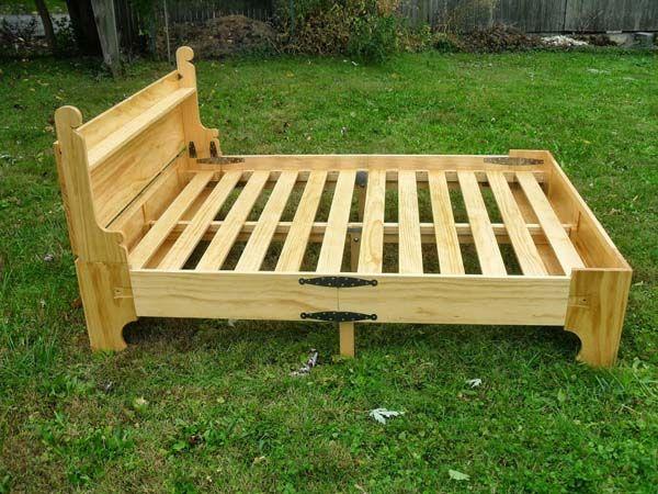 Increíble personalizado cama se pliega en un pecho para facilitar el ...