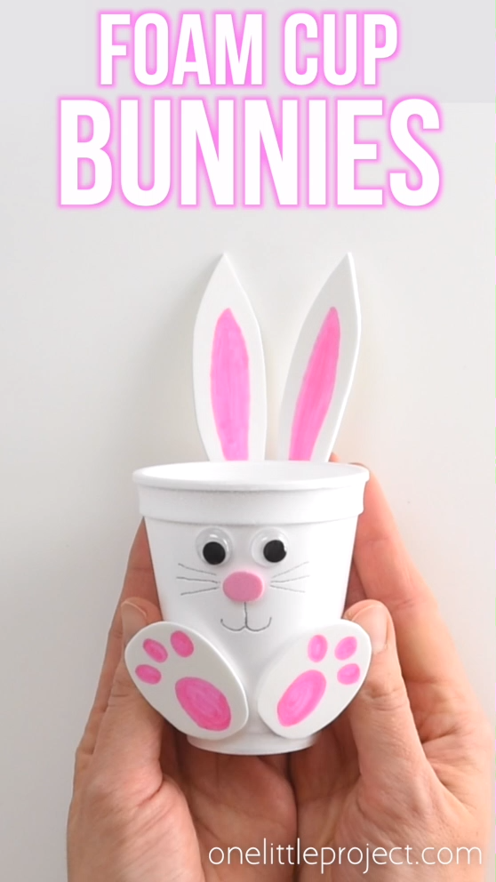 How to Make Foam Cup Bunnies These foam cup bunnies are SO CUTE I love how easy they are to make with simple craft supplies Fill them with candy chocolate eggs pencil cra...