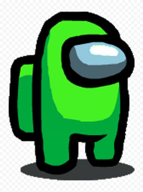 Lime Light Green Among Us Character PNG