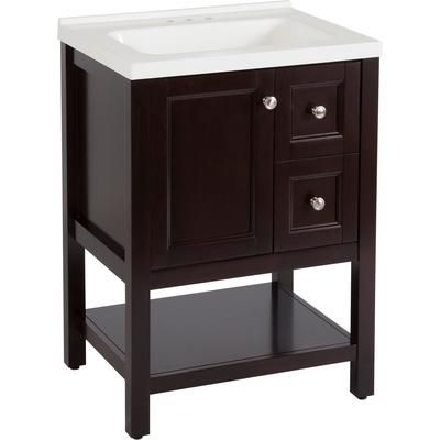St Paul Catalina 24 Inch Vanity In Chocolate With Vanity Top
