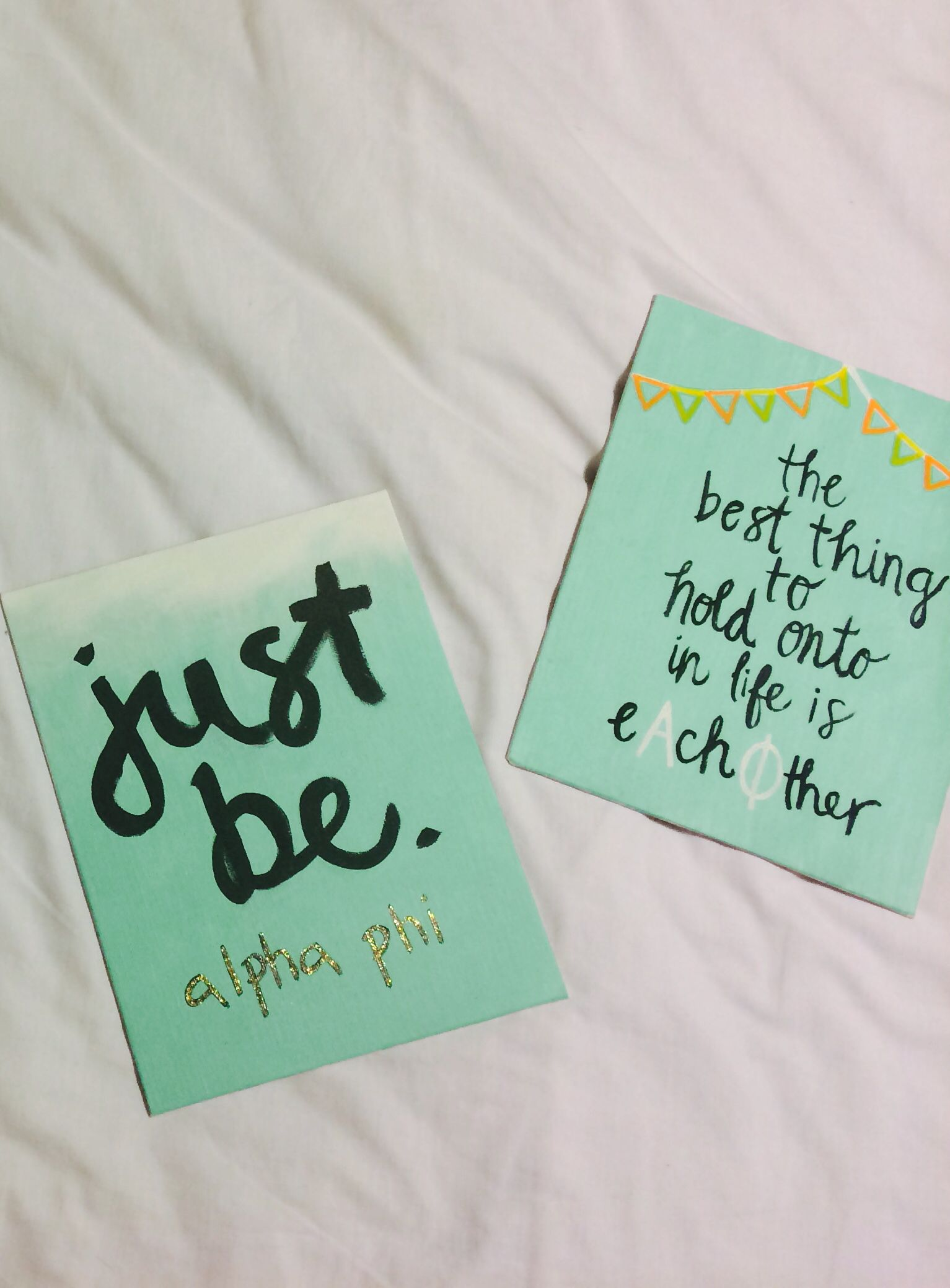 Alpha Phi big little canvases #alphaphi | oh so crafty ...
