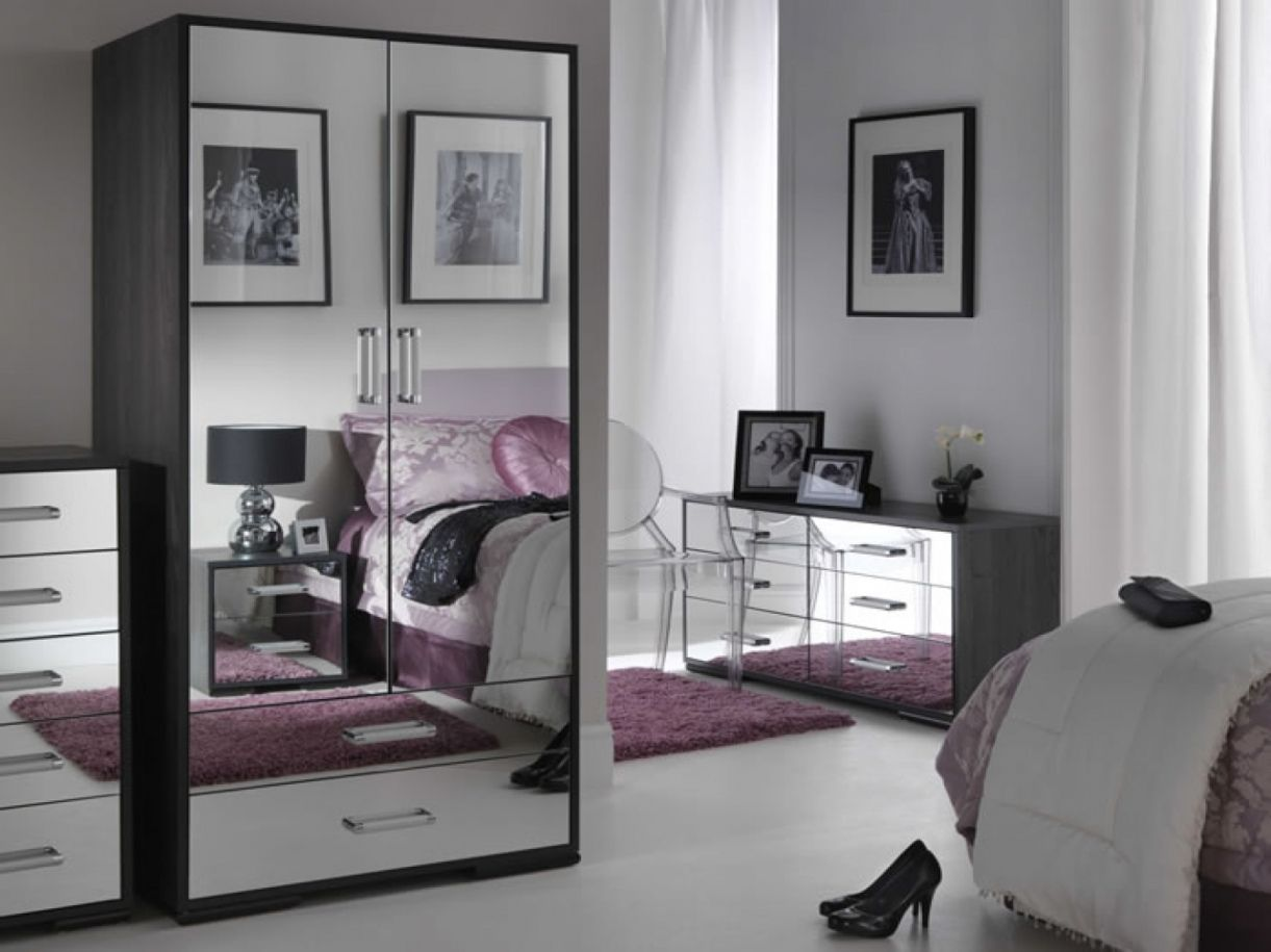 cheap mirrored bedroom furniture - modern affordable