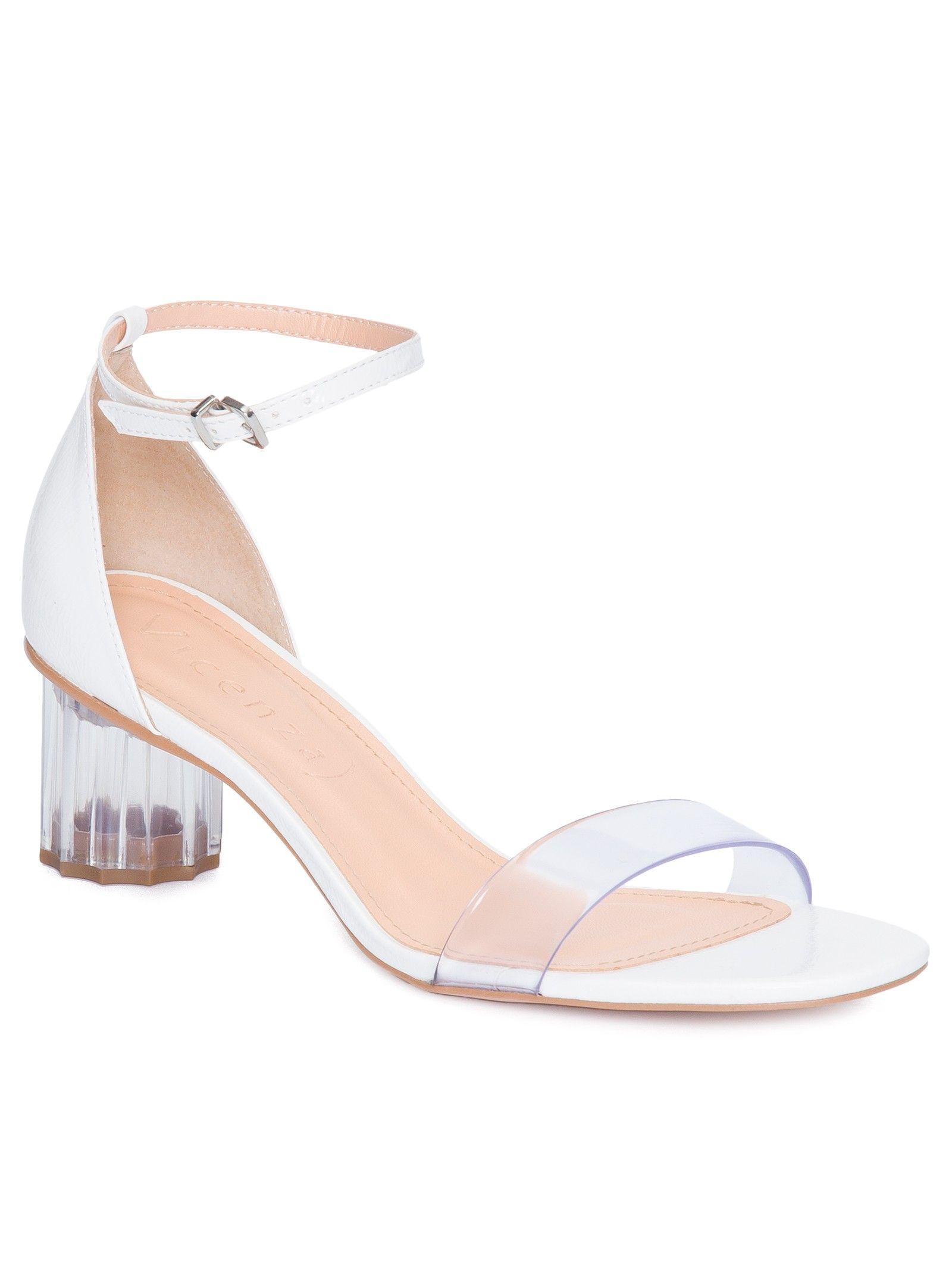 Sandália Tiras Amarração Branca