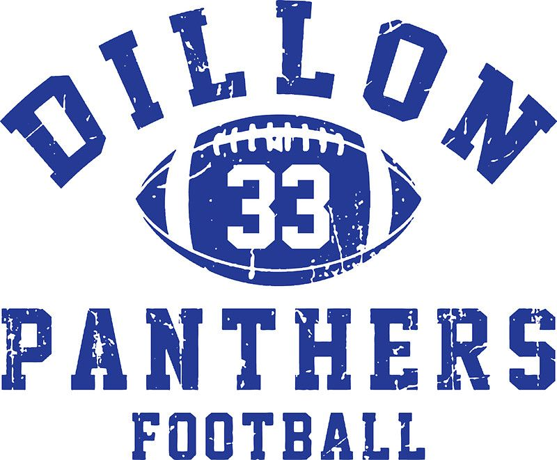 Dillon Panthers Football 33 Sticker By Atelo Prints