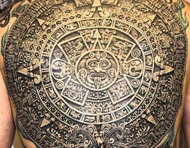 Cultural Tattoo Aztec Calendar Tattoos Tattoo Style Aztec Calendar