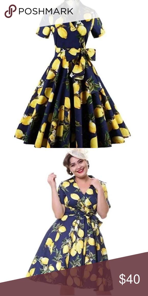 b64dffae5eccc NWT Vintage 50's Lemon Swing Dress / Small For the love of lemons! Vintage  1950's