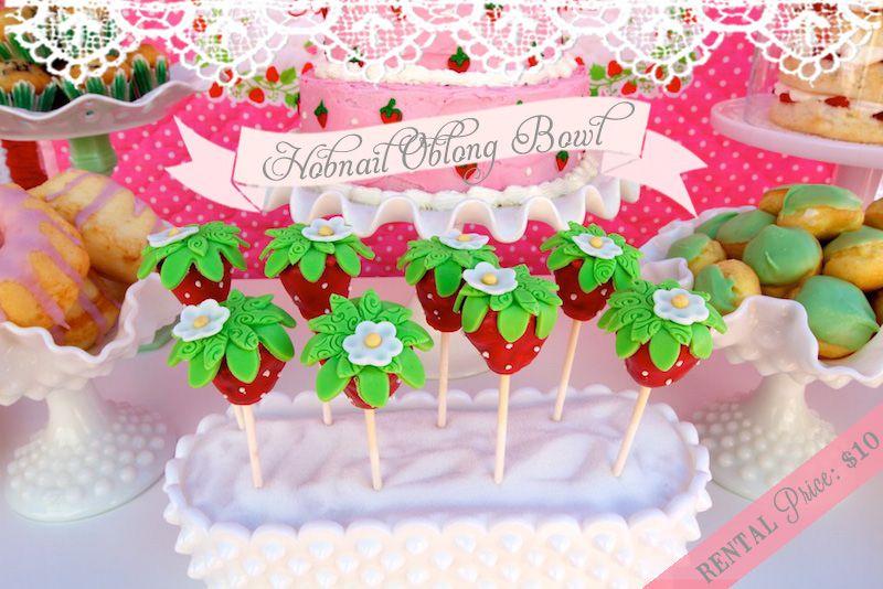Strawberry Cake Pops Strawberry Shortcake Birthdays Pinterest