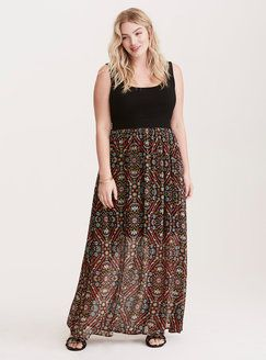 758d8167038 Plus Size Dresses. Torrid Abstract Floral Print Chiffon Knit Maxi Dress  Found on my new favorite app Dote Shopping  DoteApp  Shopping