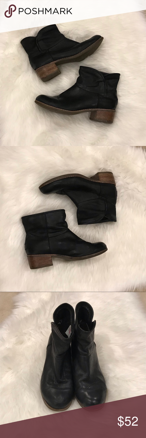 """UGG Leather Slouch Booties Ankle Boots SZ 7.5 These boots are just the right amount of distressed! Great with tights and a dress or skinny jeans.  1.5"""" heel UGG Shoes Ankle Boots & Booties #skinnyjeansandankleboots UGG Leather Slouch Booties Ankle Boots SZ 7.5 These boots are just the right amount of distressed! Great with tights and a dress or skinny jeans.  1.5"""" heel UGG Shoes Ankle Boots & Booties #skinnyjeansandankleboots"""