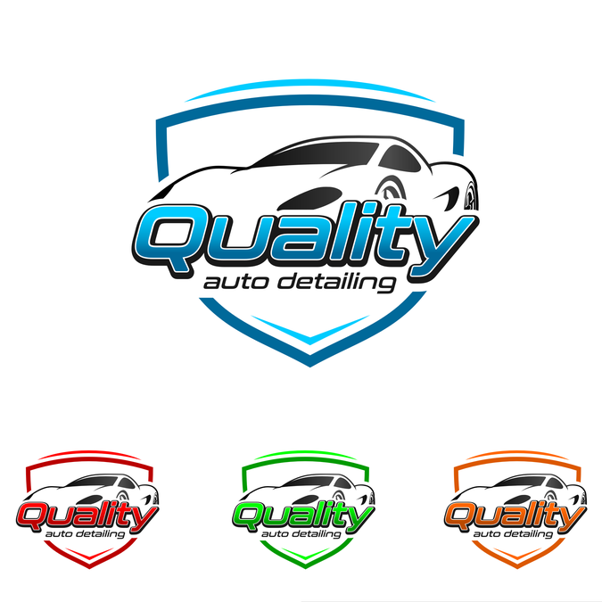 Create a logo for a auto detailing and mobile car wash