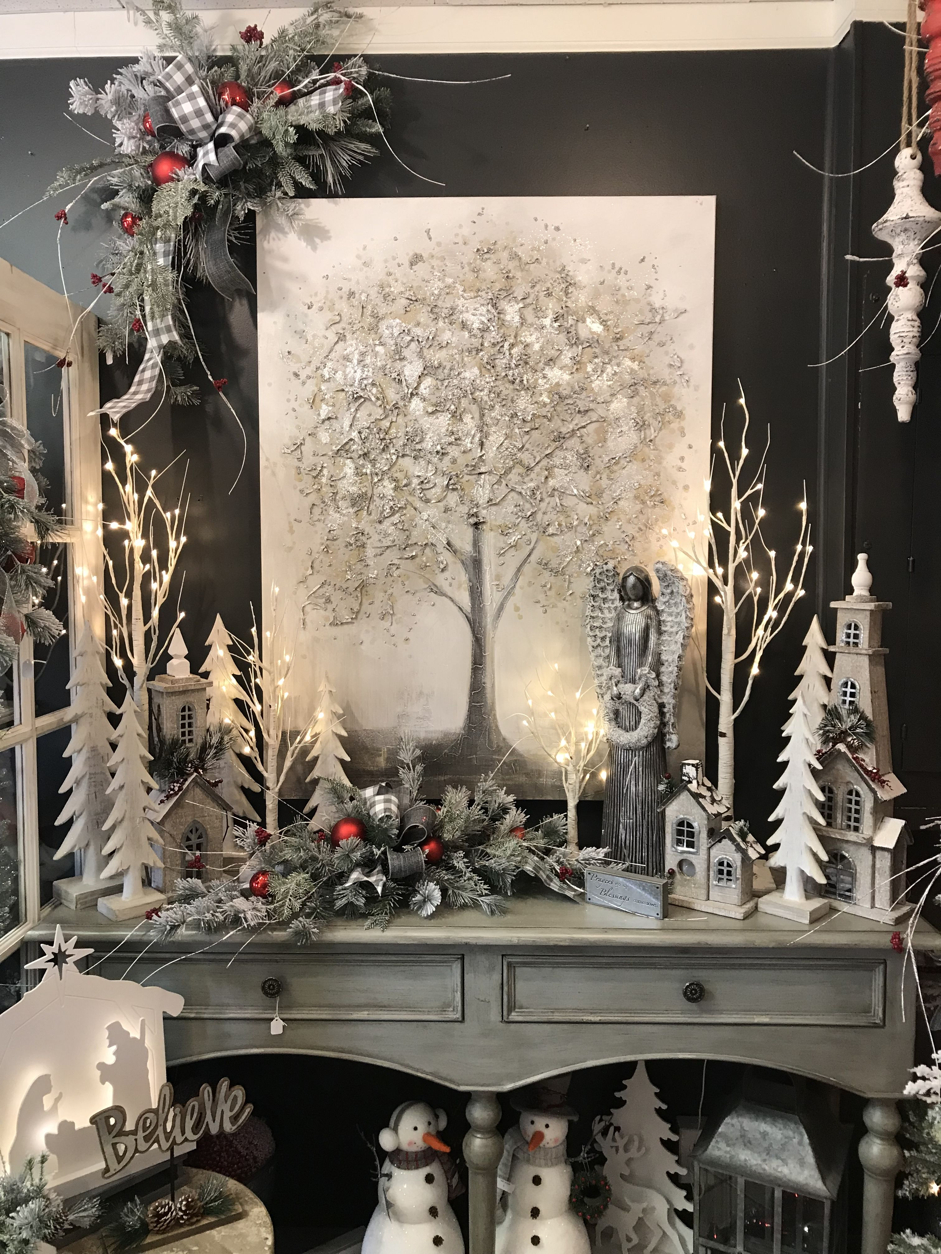 Window well decoration ideas  pin by claire pellizzari on christmas series  decor  pinterest