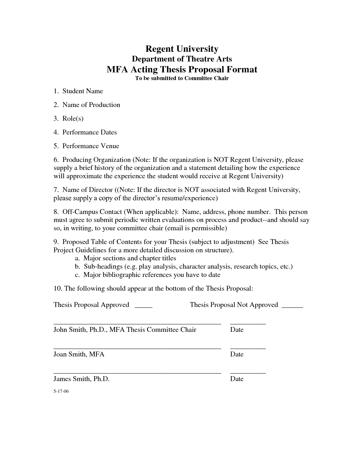 Dissertation proposal virginia