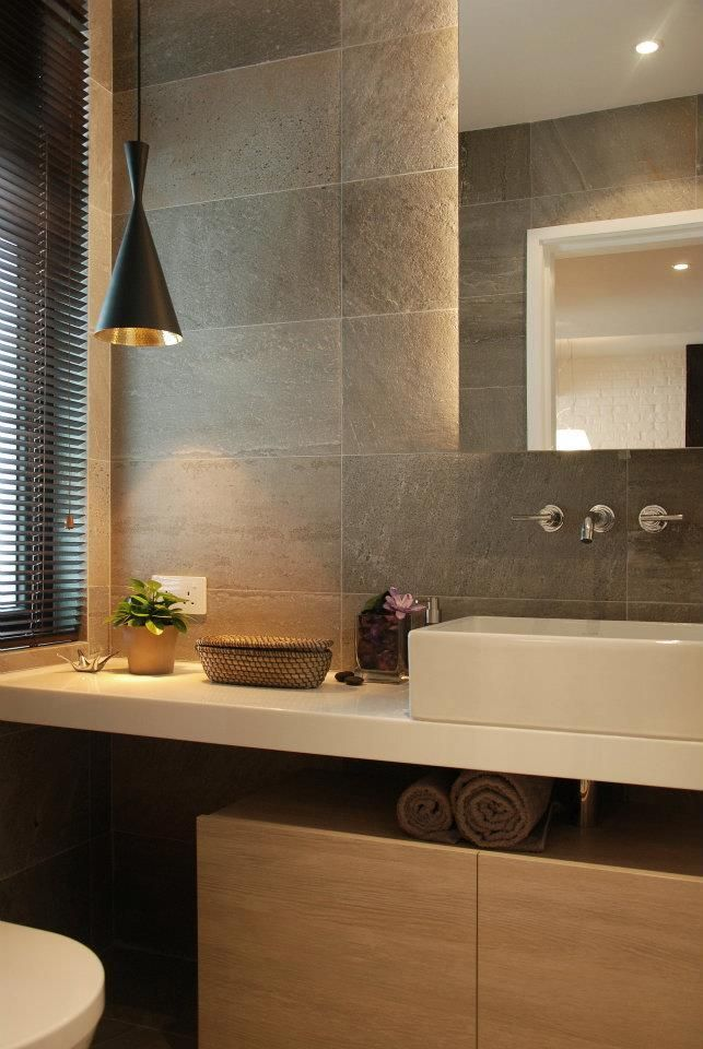 Natural Stone For A Nice Wall Cladding In Home Decoration · Gray Bathroom  TilesGray ...