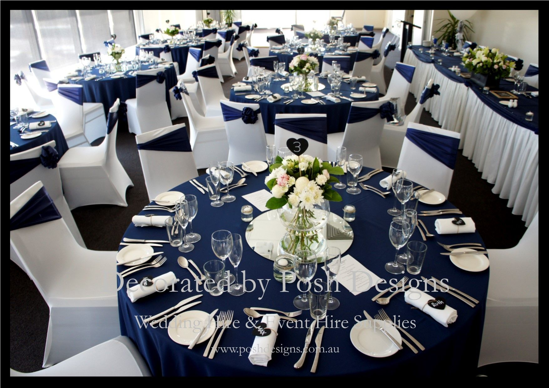 royal blue and white wedding theme - google search | my day