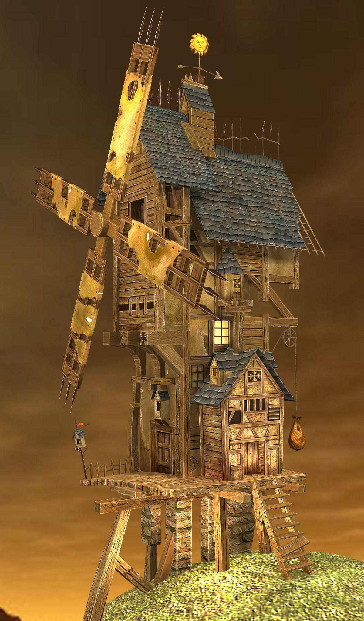 Fantasy Wood House 3D asset CGTrader Gaming