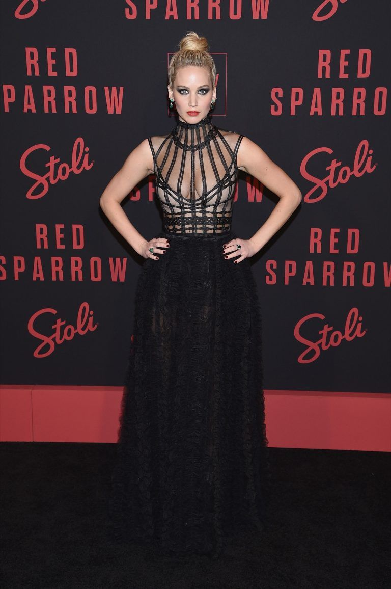 Premiere Roter Teppich Jennifer Lawrence In Dior At The New York Premiere Of Red Sparrow