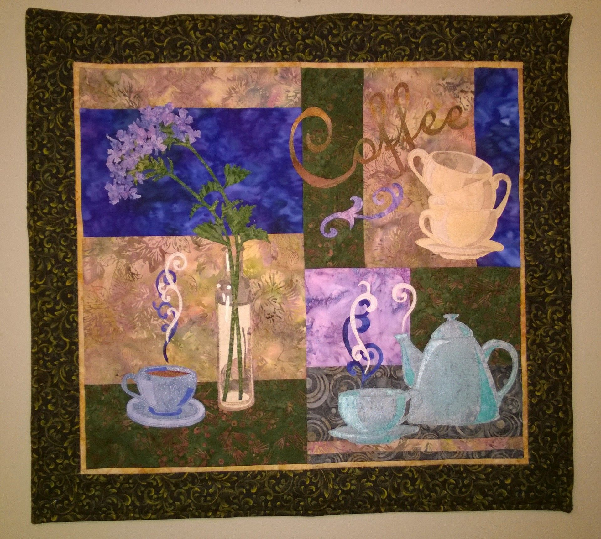 Coffee wall hanging for my kitchen, McKenna Ryan pattern