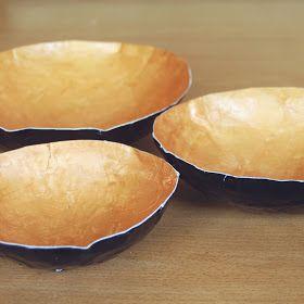 The Pink Doormat: Paper Mache Bowls