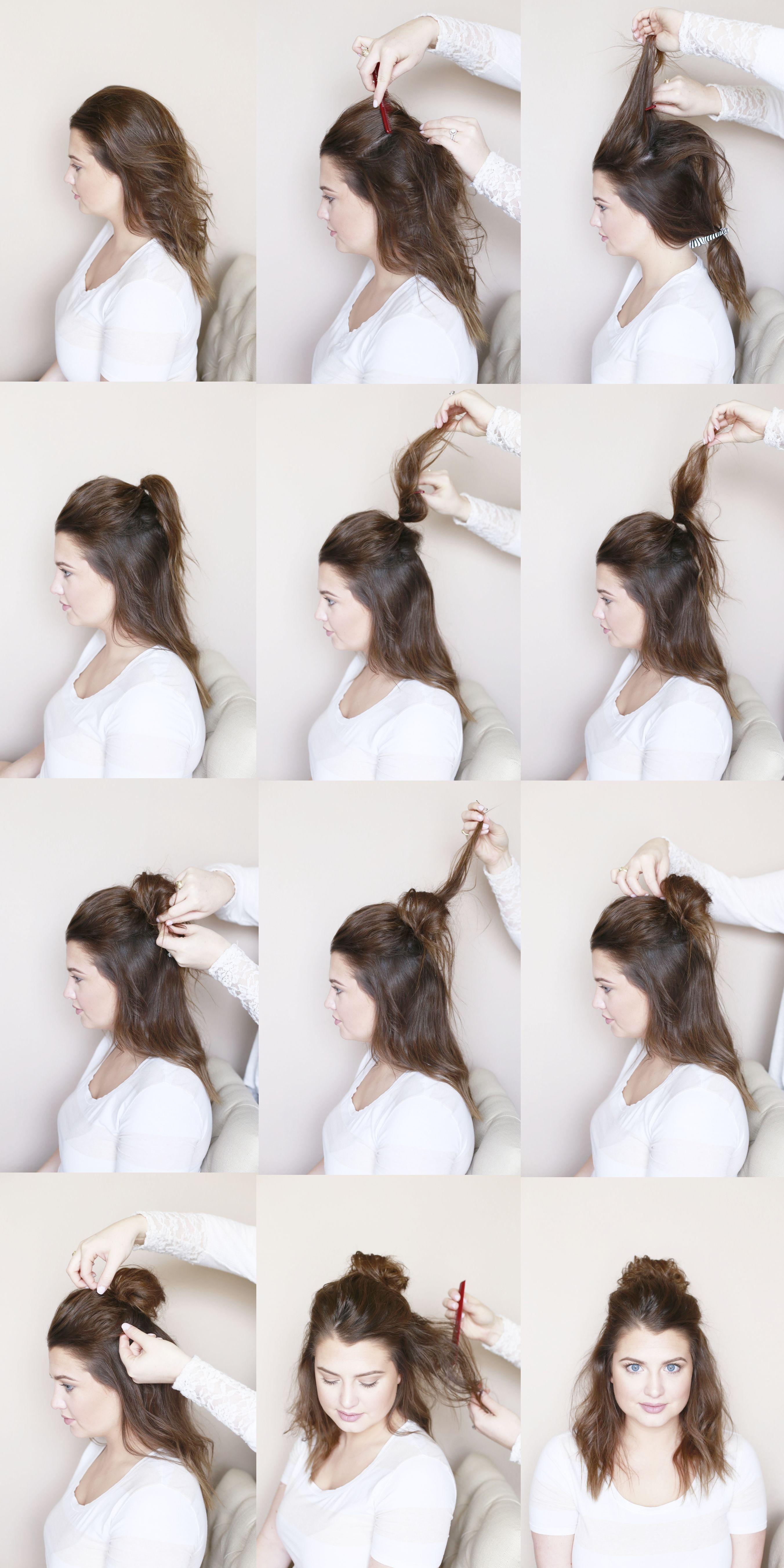 Half Up Messy Top Knot Beauty Tutorial Blogger Beauty
