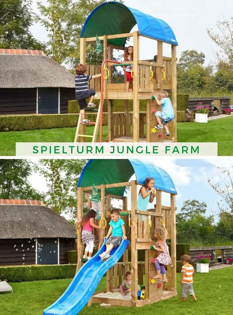 Spielturm Jungle Farm Spielturm Kinder Garten Sandkastenabdeckung