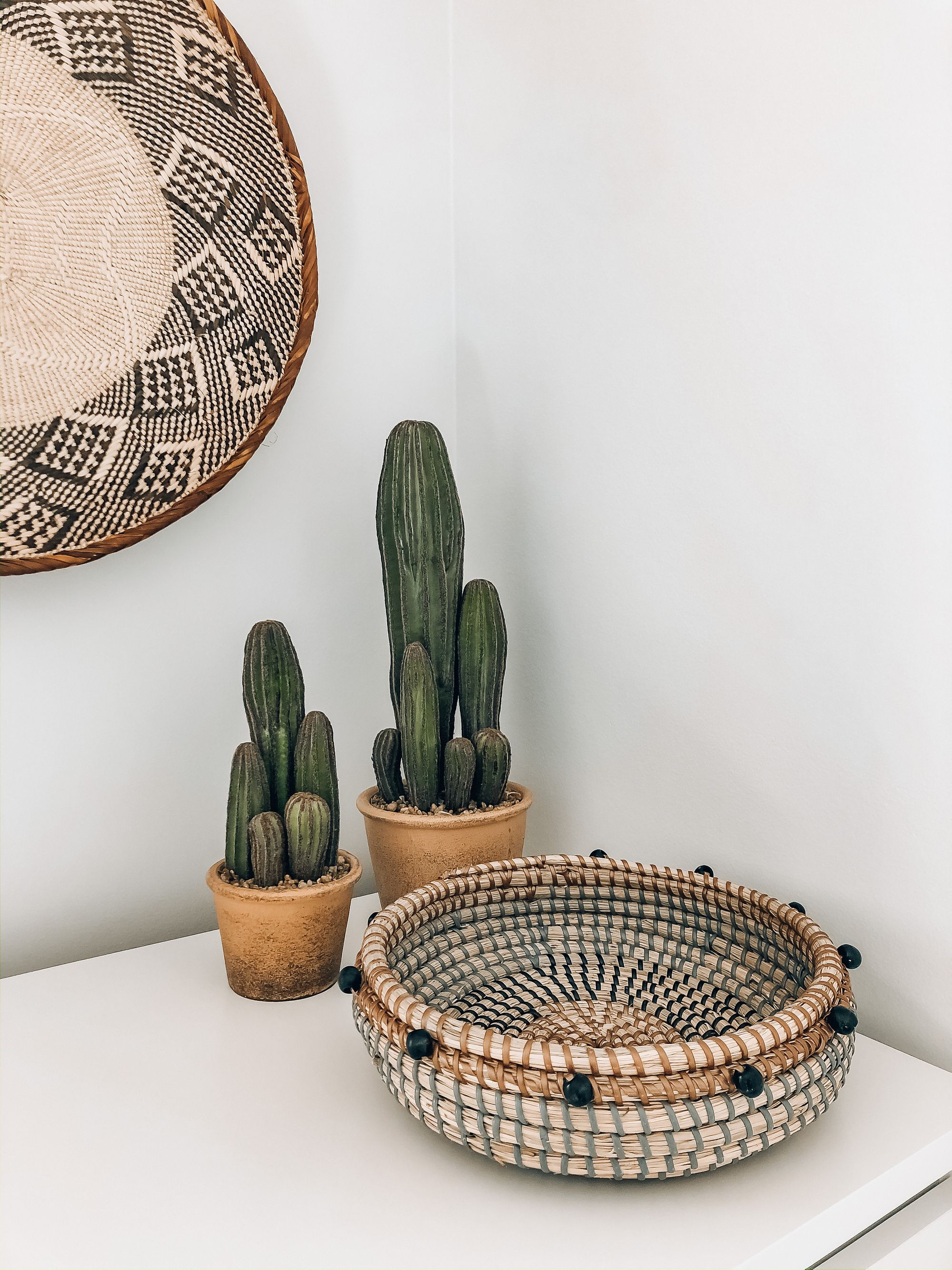 Get The Look For Your Southwestern Home Decor With Fake Cactus And Woven Baskets From Afloral Com Image In 2020 Fake House Plants Southwest Bedroom Decor House Plants