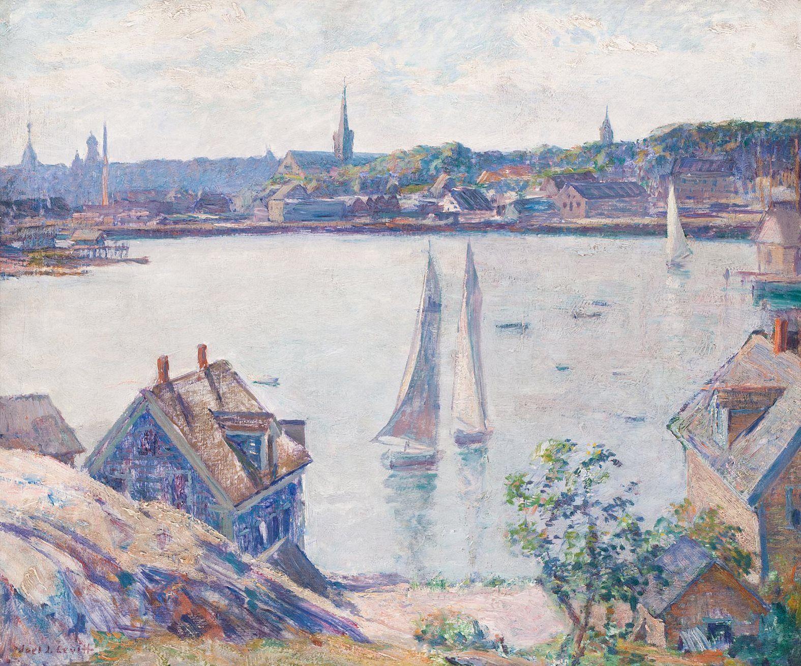 Joel J Levitt Gloucester Harbor Art Painting Childe Hassam