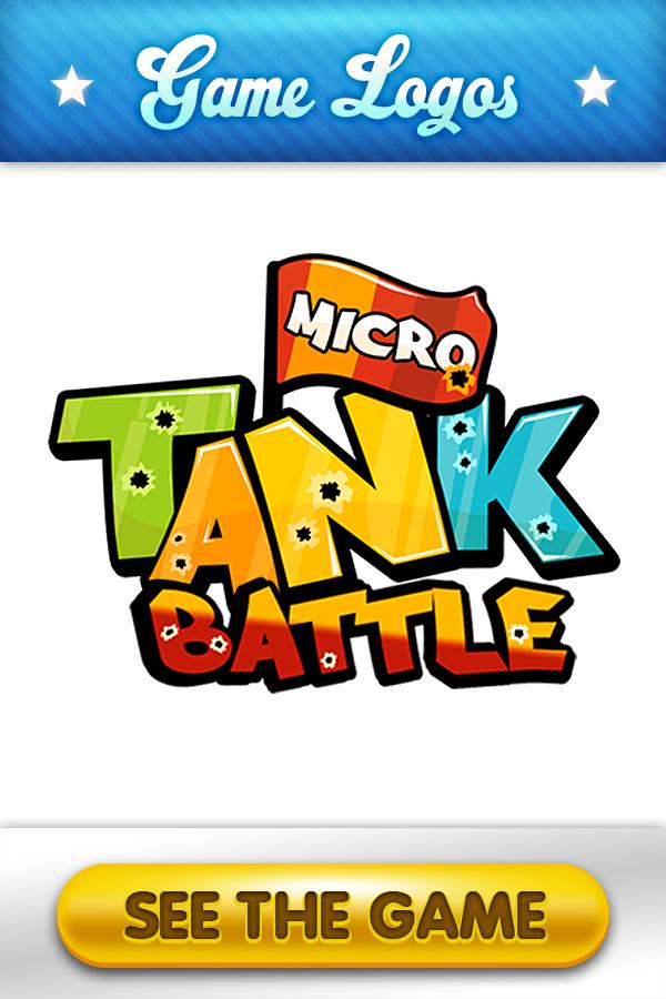Micro Tank Battle Game Logo  #micro #tank #battle #gamelogos