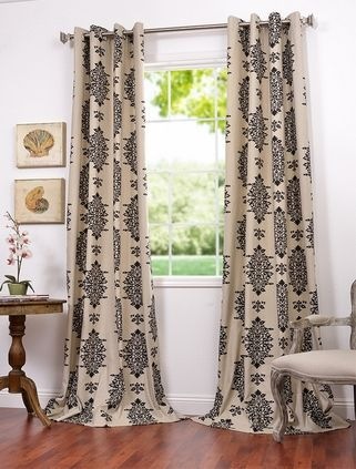 Jakarta Printed Cotton Drapes From Half Price Drapes For Dining