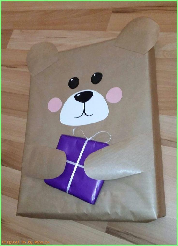 Geschenke Verpacken – Geschenk Gift Present Bear Animal Kids Bär Kinder Verpackung DIY – #ge