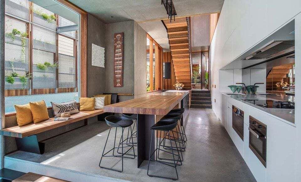 Droomhuis La House : Dit droomhuis heeft een zwembad in de woonkamer manify
