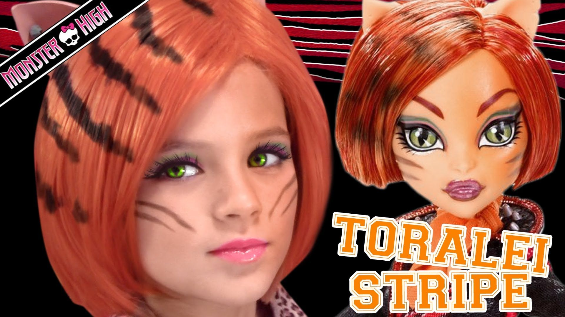 Toralei Stripe Monster High Doll Costume Makeup Tutorial for ...