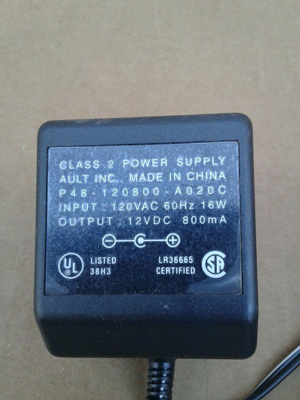 Original Ault Inc 12vdc 800ma P48120800a020c Class 2 Power Supply Power Adaptor Power Supply Power Ault