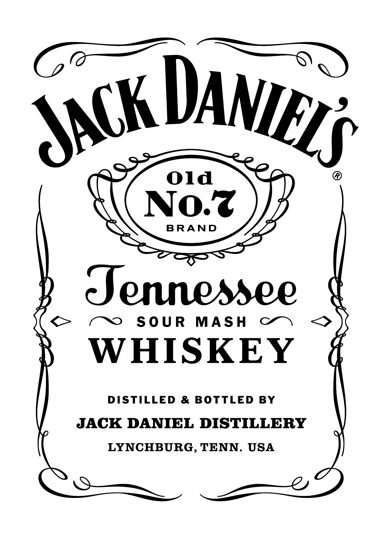 Jack daniel 39 s old no 7 drawing pinterest jack for Plaque ondulee polycarbonate transparent