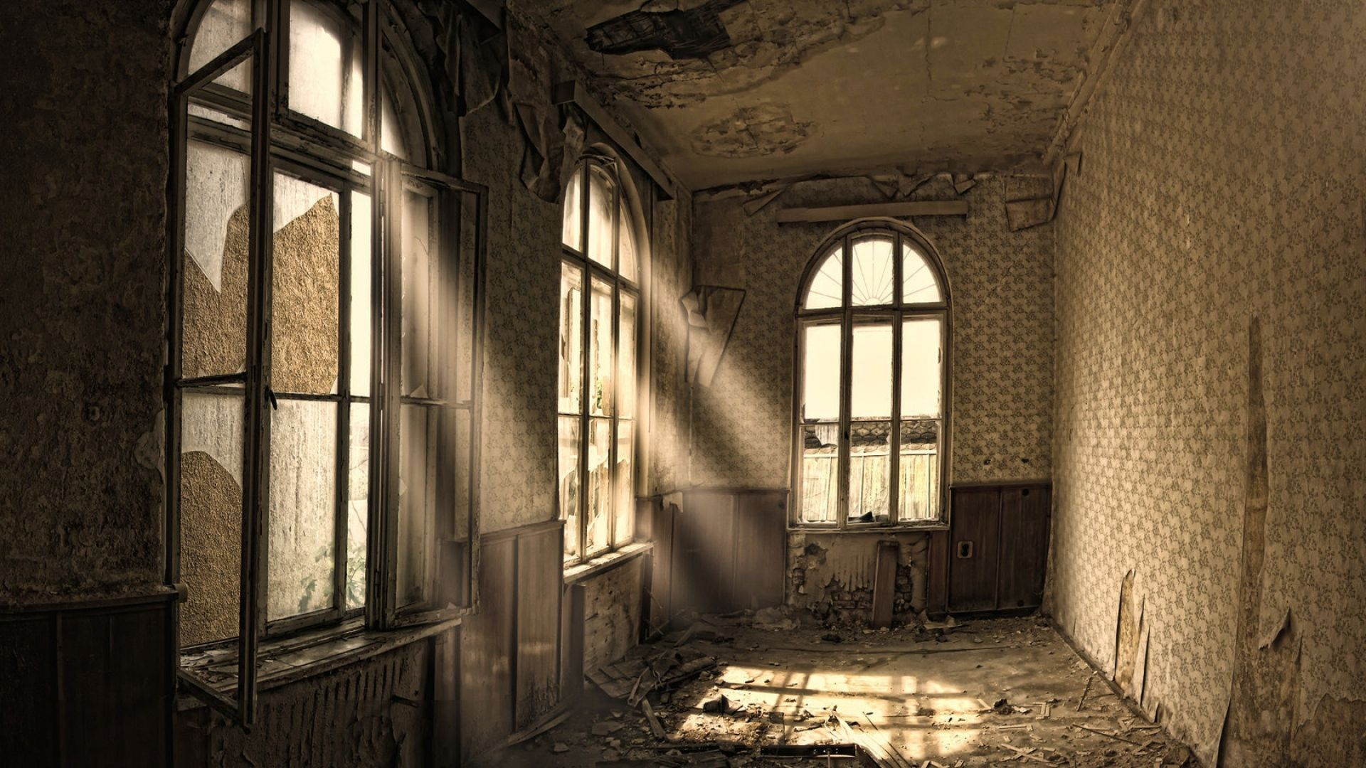 Download Wallpaper 1920x1080 Building Old Room Ruin Windows Full Hd 1080p Hd Background Windows Wallpaper Old Houses Home Wallpaper