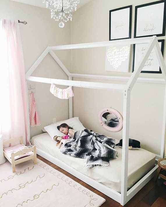 montessori furniture montessori room farmhouse floor bed house bed montessori bed twin. Black Bedroom Furniture Sets. Home Design Ideas