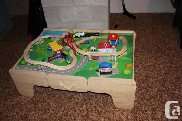 kids train set play table | ... Function Junction Train Table Set in ...