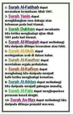 Hasil Gambar Untuk Kelebihan Surah Al Waqiah Kekuatan Doa Kutipan Agama Kutipan Pelajaran Hidup